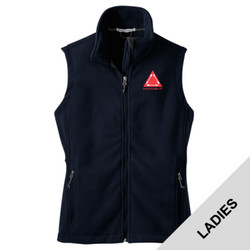 L219 - S102E003 - EMB - Ladies Fleece Vest