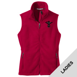 L219 - S102E001 - EMB - Ladies Fleece Vest